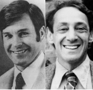 Combo photo of Dan White + Harvey Milk